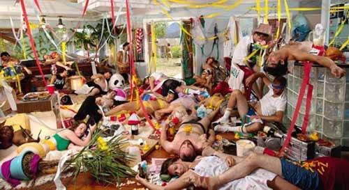 sonhar com festas
