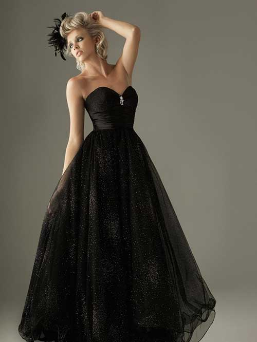 Vestido preto e azul significado
